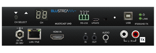 BluStream IP200UHD 4K UHD Multicast PoE Tx/Rx with Bi-Directional IR, RS232 & USB/KVM (100m)