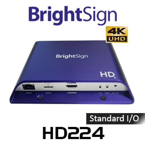BrightSign HD224 Standard I/O 4K Interactive Digital Signage Media Player