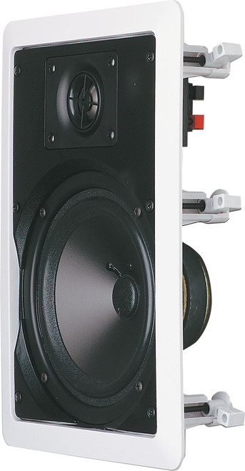 "Opus One 6.5"" 35W Rect In-Wall Ceiling Speakers (Pair)"