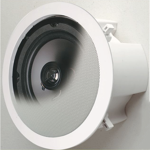 "Opus One 8"" 40W Round Backbox In-Ceiling Speakers (Pair)"