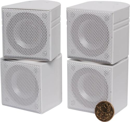 "Opus One Dual 2"" 10W Mini Cube Stereo Speakers (Pair)"