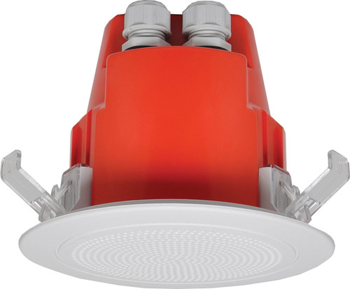 "Redback 4"" 5W 100V EWIS One-Shot In-Ceiling Speaker w/ Plastic Grille (Each)"