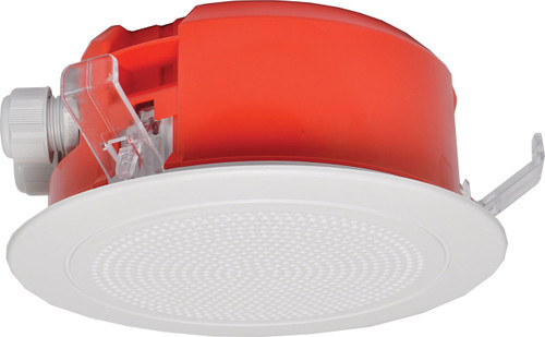 "Redback 4"" 5W 100V Low Profile EWIS One-Shot In-Ceiling Speaker w/ Plastic Grille (Each)"