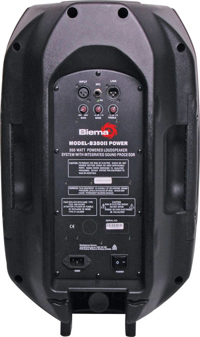 "Biema 12"" 350W High Power 2 Way Active PA Speaker (Each)"