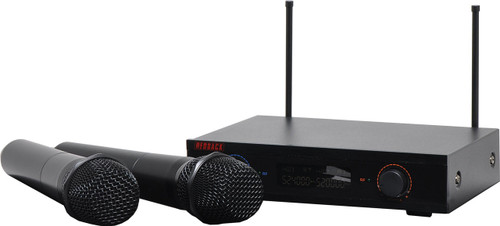 Redback 2-Ch UHF Wireless Microphone System w/ 2 Handheld Mics