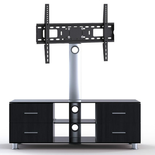 "Quantum Sphere LK4 Three Shelfs Entertainment Unit Integrated with 37""-55"" LCD TV Mount"