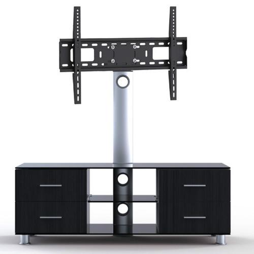 "Quantum Sphere LK4 Three Shelfs Entertainment Unit Integrated with 37""-55"" LCD TV Mount"