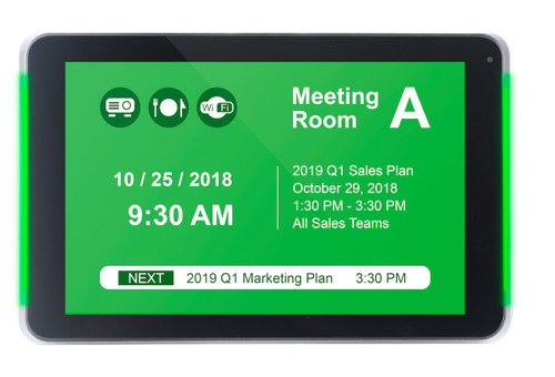 "IAdea XDS-1078 10"" WiFi PoE Meeting Room Signboard"