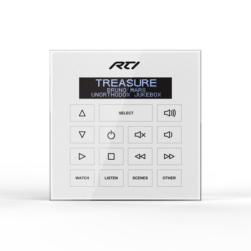 RTI WK2 Weather Resistant In-Wall PoE Keypad with OLED Display