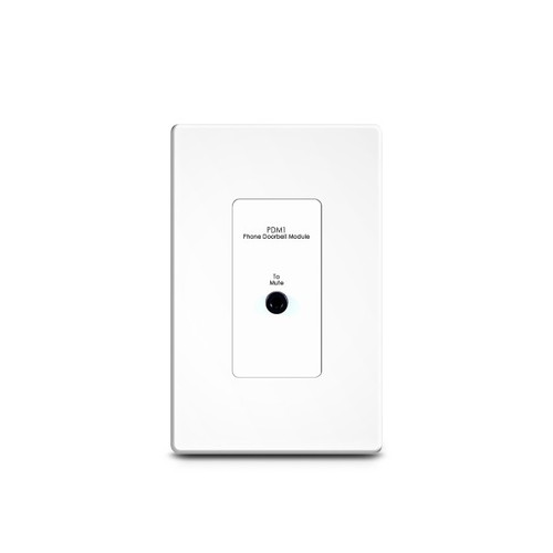 RTI PDM-1 Phone/Doorbell Mute Wallplate for AD-4x/8x/16x