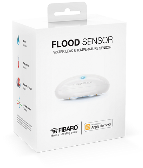 Fibaro Apple HomeKit Flood Sensor with Built-In Temperature Sensor