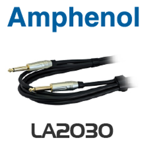 Amphenol 6.35mm Mono TRS Plug to Plug Lead