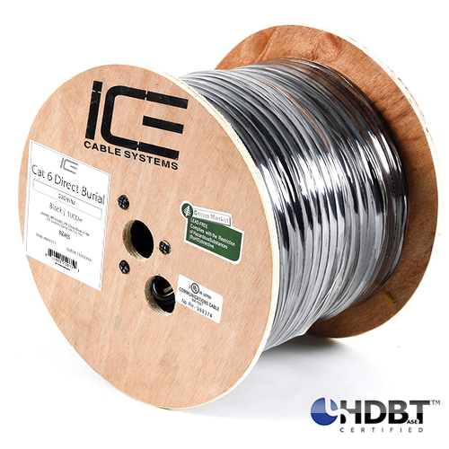 ICE Cat 6 550MHz Direct Burial HDBaseT Certified 305M Spool