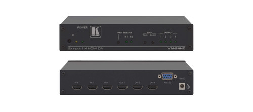 Kramer VM-24HC 2x1:4 Compact HDMI Switchable Distribution Amplifier