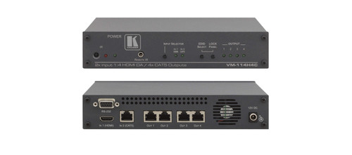 Kramer VM-114H4C 2x1:4 HDMI & DGKat To PoC DGKat Switchable DA