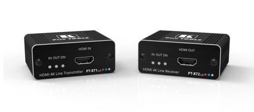 Kramer PT-871/2XR-KIT 4K60 HDR HDMI PoC Kit Over DGKat 2.0 (60m)