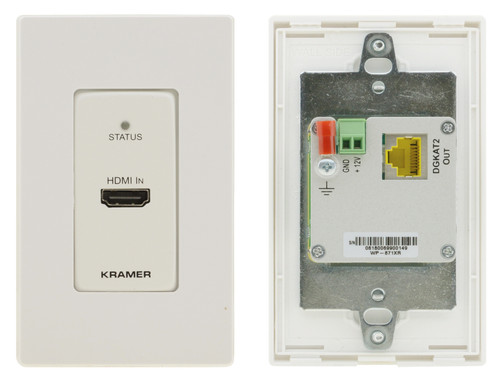 Kramer WP-871XR 4K60 HDR HDMI PoC 1-Gang Wallplate Over DGKat 2.0 (60m)