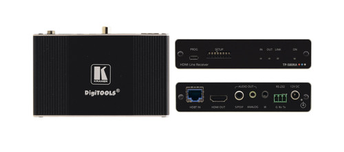 Kramer TP-580RA 4K60 HDMI to HDBaseT Receiver w/ RS-232, IR & Audio De-Embedder (40m)