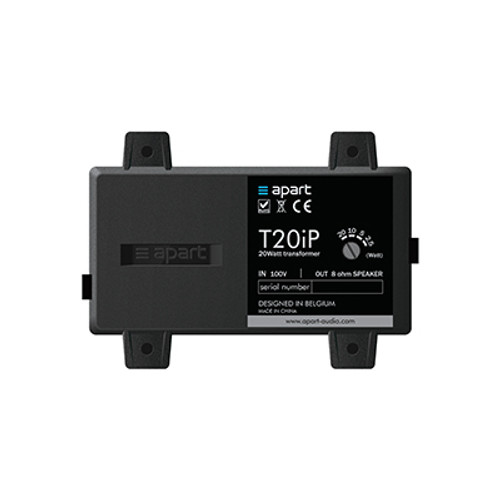 Apart T20IP Waterproof 8 Ohms 100 Volt 20 Watts Transformer