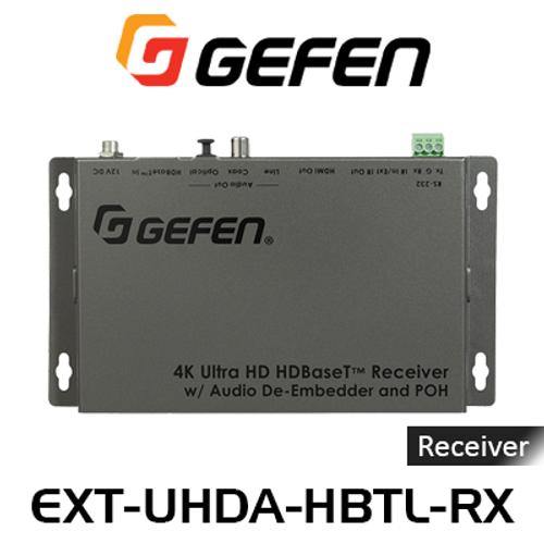 Gefen 4K UHD HDMI Over HDBaseT Receiver w/ Audio De-Embedder & PoH (40m)