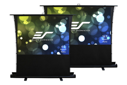 "Elite Screens ezCinema Tab Tension Floor Pull-Up Portable Projection Screens (70 - 100"")"