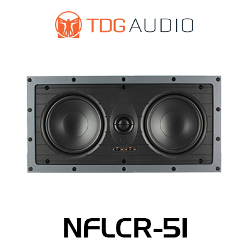 """TDG Audio NFLCR-51 Dual 5"""" Poly In-Wall LCR Speaker (Each)"""