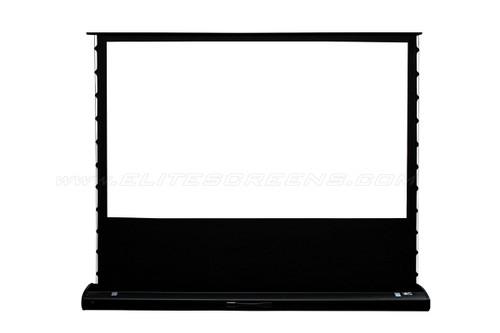 """Elite Screens Kestrel 120"""" Tab Tension Floor-Rising Motorised Projection Screens"""