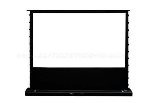 "Elite Screens Kestrel 120"" Tab Tension Floor-Rising Motorised Projection Screens"