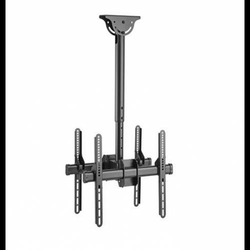"Dekk Dual 37""-55"" Tilt Pole Height Adjustable Flat Screen Ceiling Mount (778 - 1128mm)"