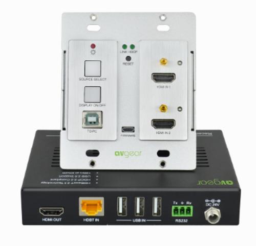 AVGear HD550 Dual 4K HDMI HDBaseT Wallplate Kit with USB