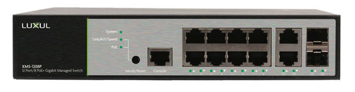 Luxul XMS-1208P 12-Port / 8 PoE+ Gigabit Managed Switch