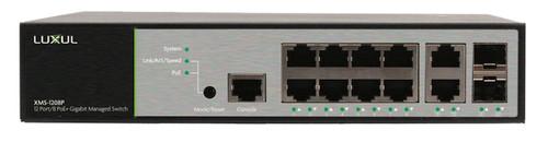 Luxul XMS-1208P 12-Port / 8 PoE+ Gigabit Managed Switch