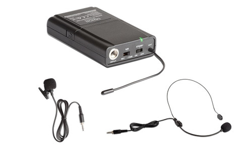 Denon Pro Envoi Belt Pack Transmitter with Lavalier & Headset Mic