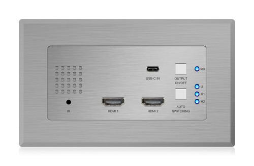 BluStream HEX31WP-TX 4K HDMI & USB-C HDBaseT Transmitter Wallplate (40m)