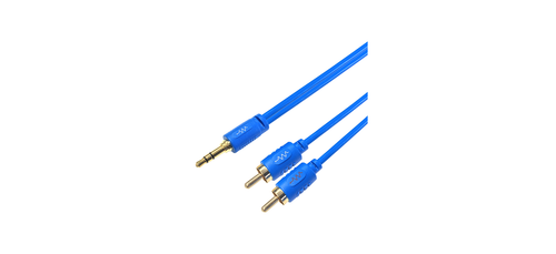 BluStream Stereo 2 Phono to 3.5mm Jack Audio Cable (1, 2, 3m)
