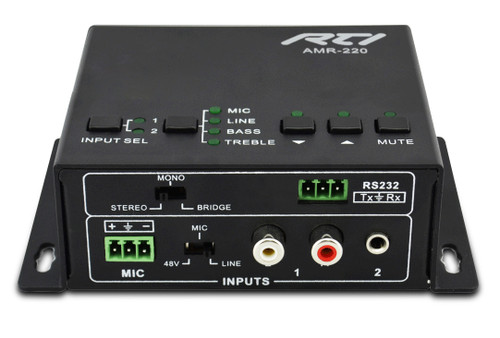 RTI AMR-220 Compact 2x1 Mixer Amplifier