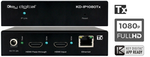 Key Digital KD-IP1080 Full HD HDMI over IP with PoE (122m)