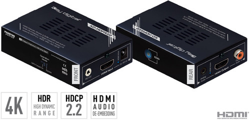 Key Digital KD-HDFIX22 4K HDR10 HDMI Extender, TMDS, Hot Plug Control, Audio De-Embedding (46m)