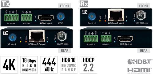 Key Digital KD-X444L 4K/18G PoH HDBaseT HDMI Extender Kit (100m)