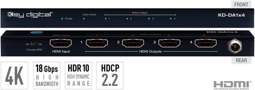 Digital KD-DA1xx 1:4/8 4K 18G HDMI Distribution Amplifier