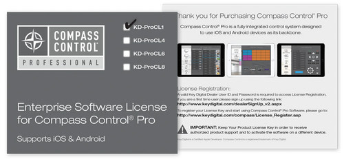 Key Digital KD-ProCL Enterprise Software License For Compass Control