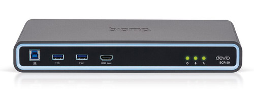 Biamp Devio SCR-20 4K Conferencing Hub With Low-Profile Ceiling / Tabletop Microphone