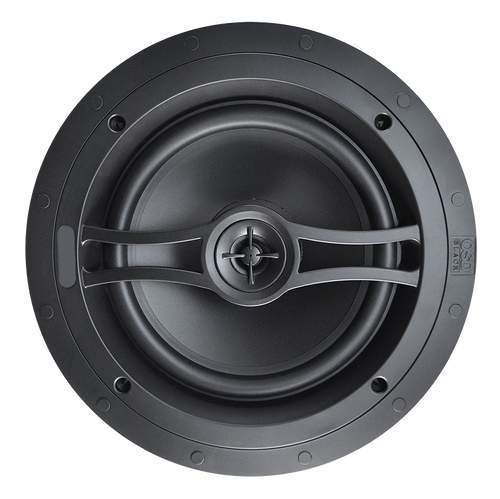 "OSD Black R81 8"" Acoustic In-Ceiling Speakers (Pair)"