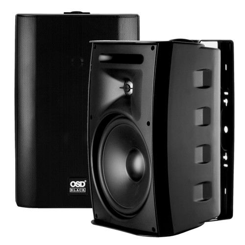 """OSD Black P83 8"""" 70V / 8 ohm All-Weather Outdoor Patio Speakers (Pair)"""