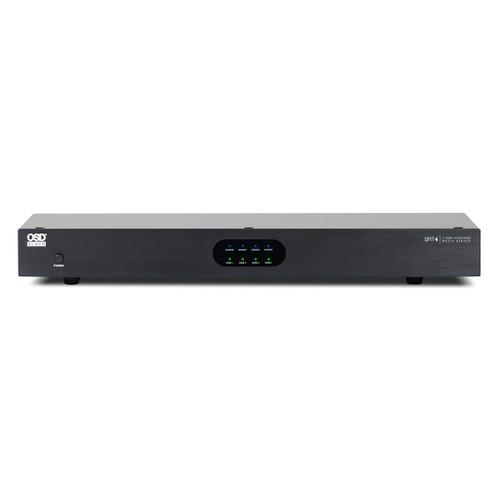 OSD Black SR4 4-Zone Wireless Preamp Streaming Media Server
