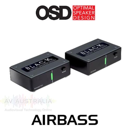 OSD Black AIRBASS Wireless Subwoofer Transmitter & Receiver Kit
