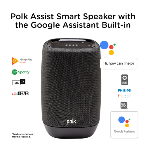 Polk Audio Assist Smart Speaker with Google Assistant Built-In