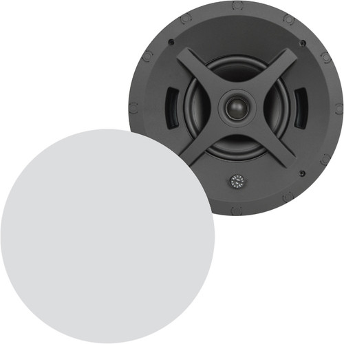 "Sonance Professional PS-C63RTLP 6.5"" 70/100V 8 Ohm Low Profile In-Ceiling Speakers (Pair)"