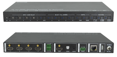 AVGear SCU41-MV 4x1 4K Seamless Switcher with Multi-View