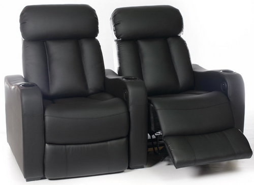Manhattan Brooklyn Pro Leather / Suede Finish Cinema Seating